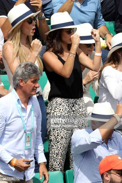 Rafael Nadal's girlfriend Xisca Perello attends the 2018 French Open Day Nine at Roland Garros on June 4 2018 in Paris France