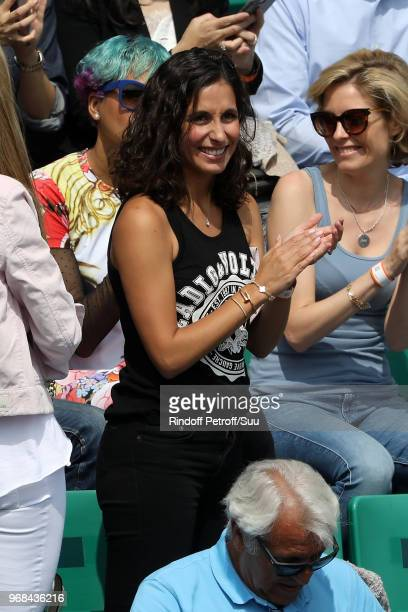 Rafael Nadal's girlfriend Xisca Perello attends the 2018 French Open Day Eleven at Roland Garros on June 6 2018 in Paris France