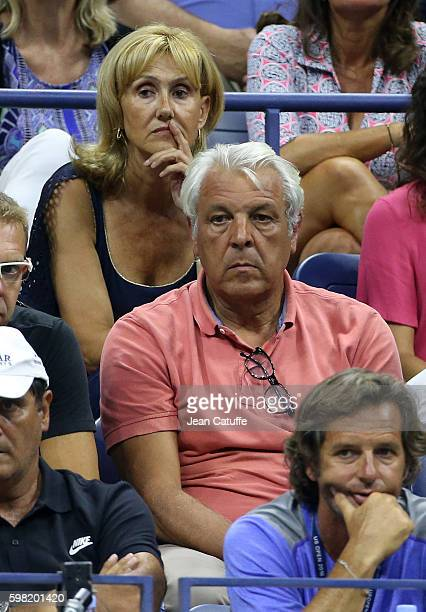 Rafael Nadal's parents Ana Maria Parera and Sebastian Nadal attend his second round match on day 3 of the 2016 US Open at USTA Billie Jean King...