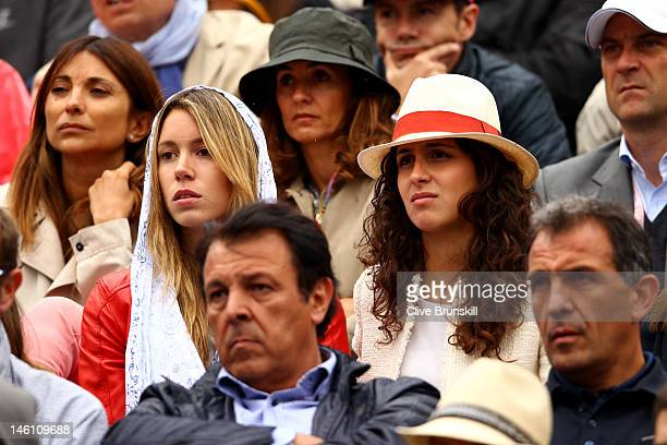 Rafael Nadal's sister Isabel Nadal and girlfriend Xisca Perello watch the men's singles final between Novak Djokovic of Serbia and Rafael Nadal of...