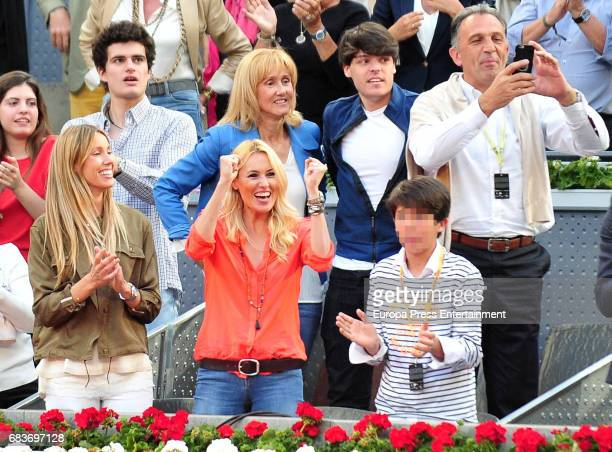 Rafael Nadal's sister Maribel Nadal mother Ana Maria Parera and Carolina Cerezuela attend Mutua Madrid Open tennis at La Caja Magica on May 14 2017...