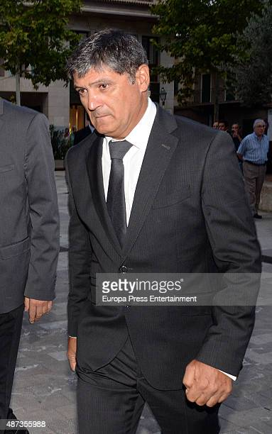 Rafael Nadal's uncle and coach Toni Nadal attends the funeral chapel for musician Rafael Nadal grandfather of tennis player Rafael Nadal on September...