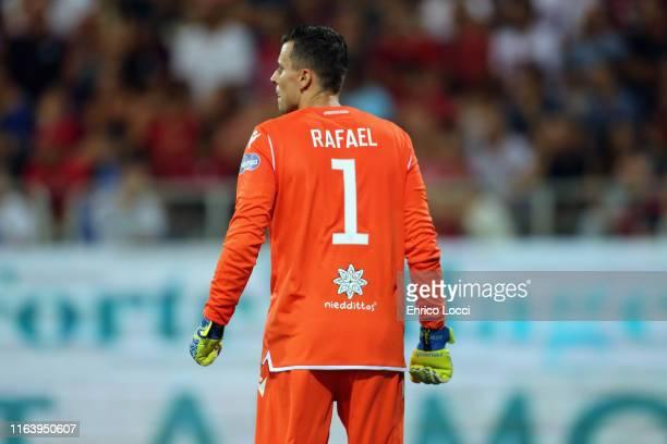 Rafael of Cagliari looks on during the Serie A match between Cagliari Calcio and Brescia Calcio at Sardegna Arena on August 25 2019 in Cagliari Italy