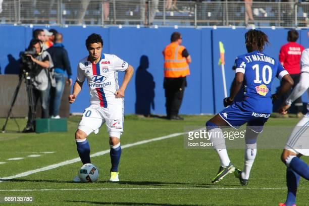 Rafael of Lyon during the Ligue 1 match between SC Bastia and Olympique Lyonnais Lyon at Stade Armand Cesari on April 16 2017 in Bastia France