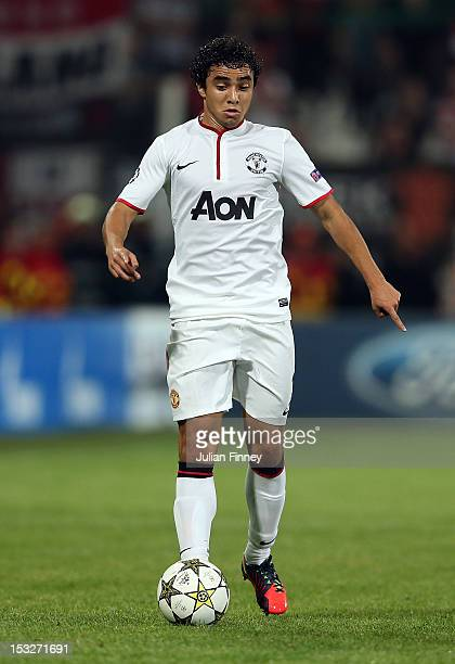 Rafael of Manchester United in action during the UEFA Champions League Group H match between CFR 1907 Cluj and Manchester United at the Constantin...