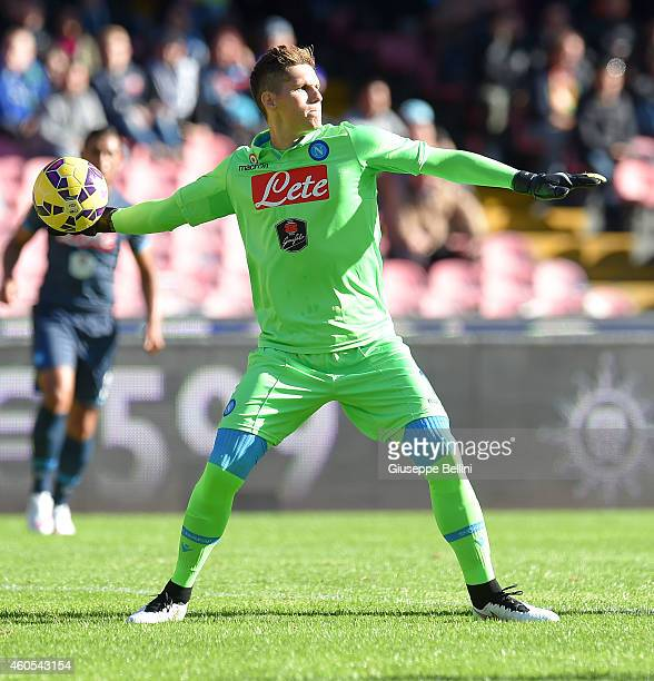 Rafael of Napoli in action during the Serie A match between SSC Napoli and Empoli FC at Stadio San Paolo on December 7 2014 in Naples Italy