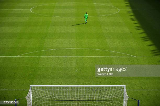 Rafael of Reading leaves his goal during the Sky Bet Championship match between Reading and Barnsley at Madejski Stadium on September 19 2020 in...