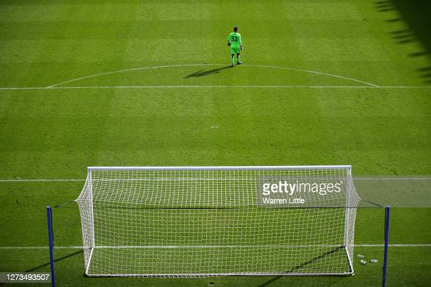 Rafael of Reading looks on from his goal during the Sky Bet Championship match between Reading and Barnsley at Madejski Stadium on September 19 2020...