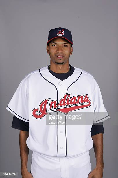 Rafael Perez of the Cleveland Indians poses during Photo Day on Saturday February 21 2009 at Goodyear Ballpark in Goodyear Arizona