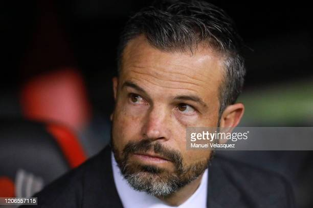 Rafael Puente coach of Atlas gestures prior the 6th round match between America and Atlas as part of the Torneo Clausura 2020 Liga MX at Azteca...