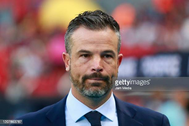 Rafael Puente Head Coach of of Atlas looks on prior the 7th round match between Atlas and Pachuca as part of the Torneo Clausura 2020 Liga MX at...