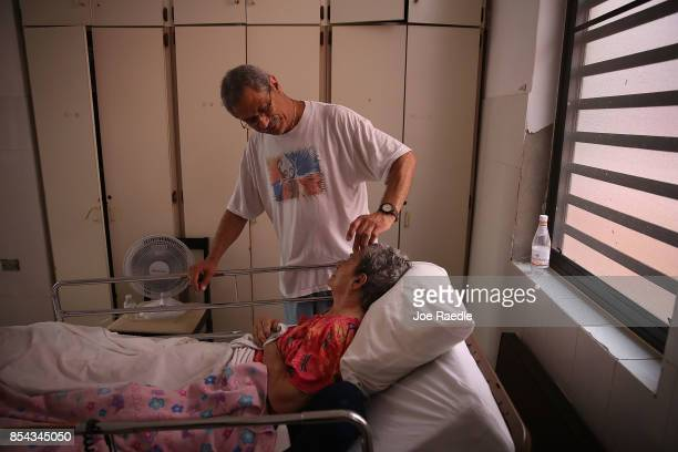 Rafael RoblesOrtiz spends time with his mother Josefina Ortiz who is staying at the Hermanitas de los Ancianos Desamparados facility which cares for...