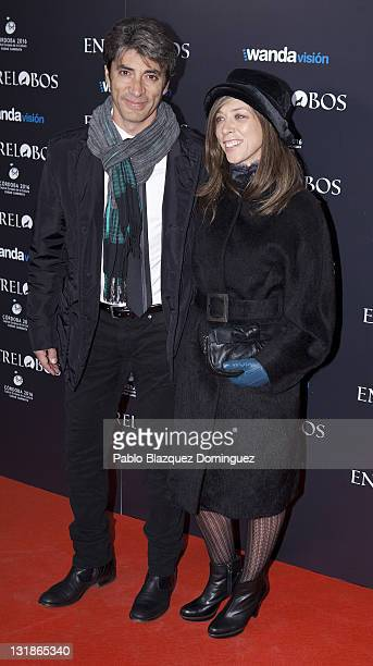 Rafael Rojas and Eva Isanta attend the 'Entre Lobos' premiere at the Capitol Cinema on November 25 2010 in Madrid Spain