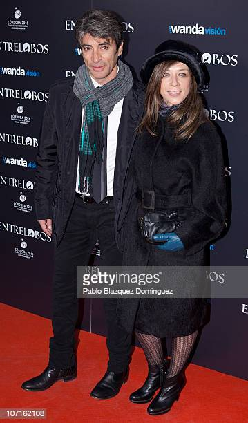 Rafael Rojas and Eva Isanta attend the 'Entrelobos' Premiere in Cine Capitol on November 25 2010 in Madrid Spain
