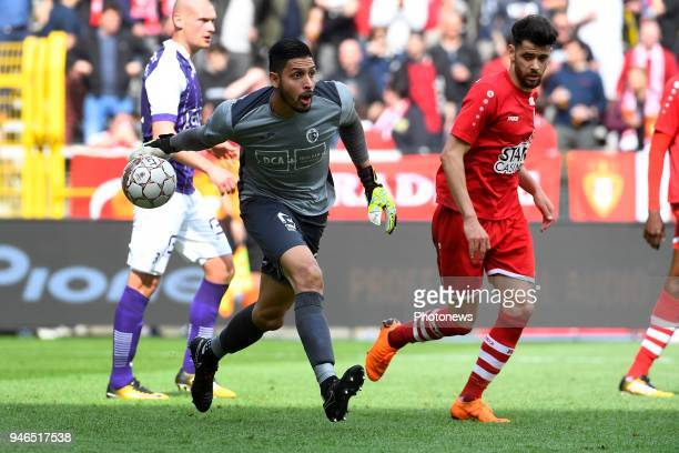 Rafael Romo goalkeeper of Beerschot Wilrijk during the Jupiler Pro League play off 2 match between Royal Antwerp FC and Beerschot Wilrijk on April 15...