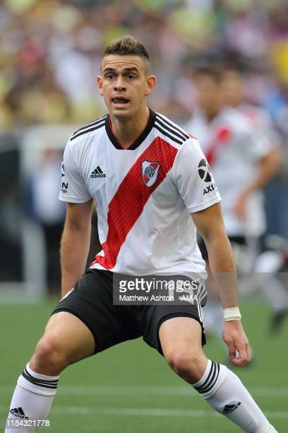 Rafael Santos Borre of River Plate during a friendly match between Club America and River Plate as part of the Colossus Cup 2019 at CenturyLink Field...