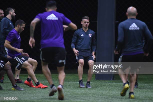 Rafael Santos Borre of River Plate during a training session at CAT Alfredo Gottardi on May 21 2019 in Curitiba Brazil River Plate will face Atletico...