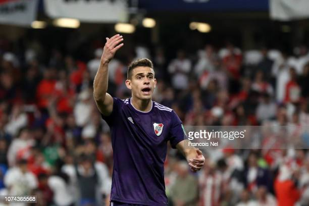 Rafael Santos Borre of River Plate reacts during the FIFA Club World Cup UAE 2018 Semi Final Match between River Plate and Al Ain at Hazza Bin Zayed...