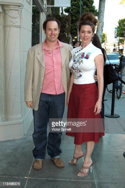 Rafael Sbarge and Lisa Akey during Reopening of Emporio Armani Store in Beverly Hills at Emporio Armani in Beverly Hills California United States