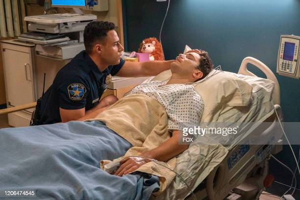 Rafael Silva and Ronen Rubinstein in the Monster Inside episode of 911 LONE STAR airing Monday March 2 on FOX