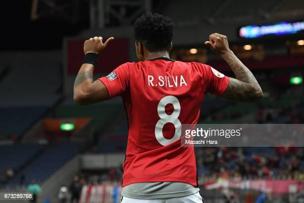 Rafael Silva of Urawa Red Diamonds celebrates the fifth goal during the AFC Champions League Group F match between Urawa Red Diamonds and Western...