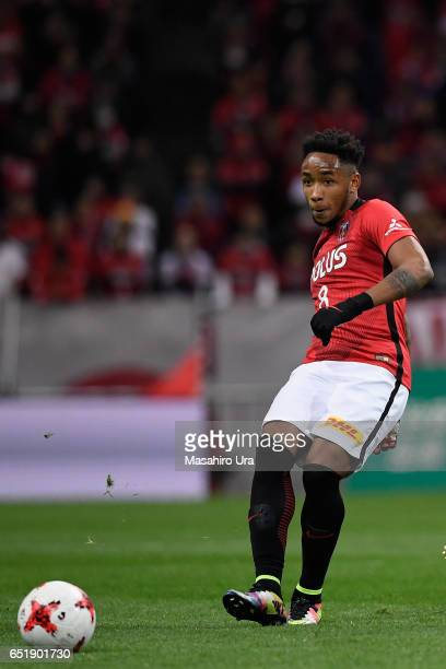 Rafael Silva of Urawa Red Diamonds in action during the JLeague J1 match between Urawa Red Diamonds and Ventforet Kofu at Saitama Stadium on March 10...