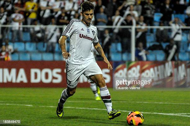 Rafael Sobis of Fluminense celebrate a scored goal during the match between Vasco and Fluminense for the Brazilian Series A 2013 at Ressacada stadium...