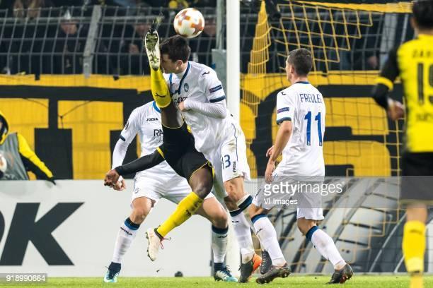 Rafael Toloi of Atalanta Bergamo Michy Batshuayi of Borussia Dortmund Mattia Caldara of Atalanta Bergamo Remo Freuler of Atalanta Bergamo during the...