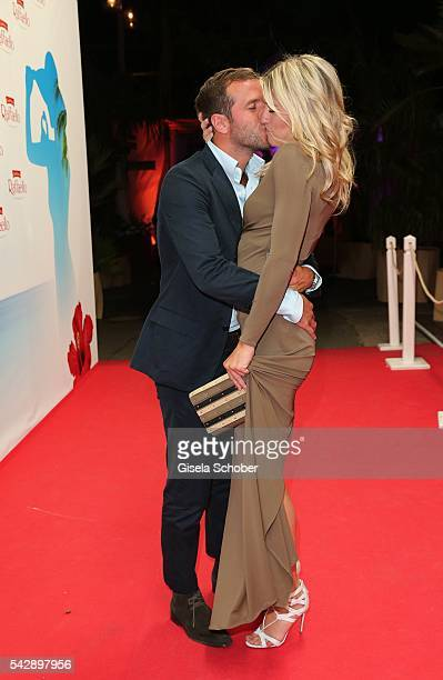 Rafael van der Vaart and his girlfriend Estavana Polman during the Raffaello Summer Day 2016 to celebrate the 26th anniversary of Raffaello on June...