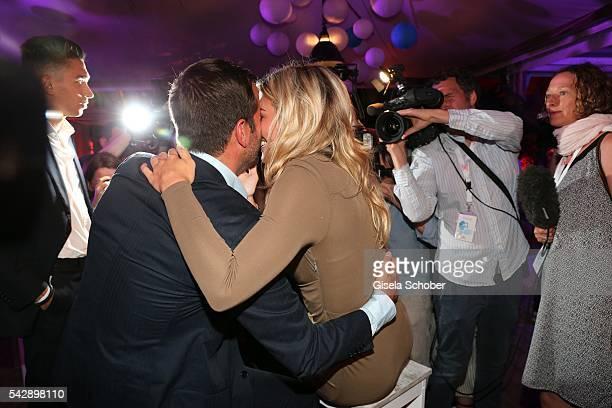 Rafael van der Vaart and his girlfriend Estavana Polman during the Raffaello Summer Day 2016 to celebrate the 26th anniversary of Raffaello on June...