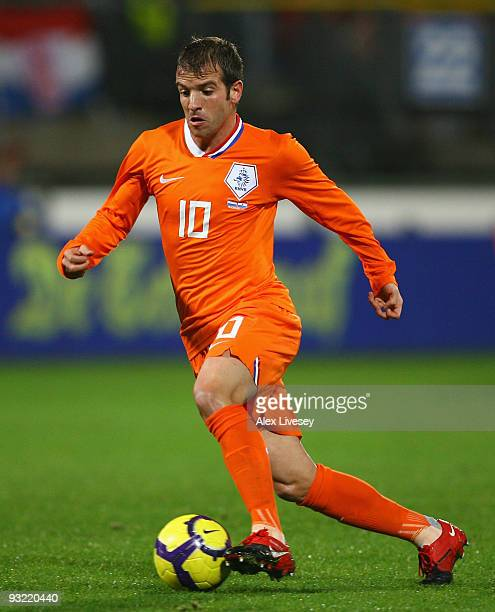Rafael van der Vaart of Netherlands during the International Friendly match between Netherlands and Paraguay at the Abe Lenstra Stadium on November...