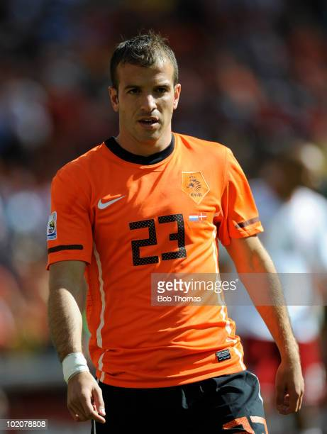 Rafael Van Der Vaart of the Netherlands during the 2010 FIFA World Cup Group E match between Netherlands and Denmark at Soccer City Stadium on June...
