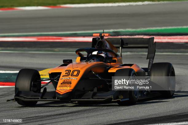 Rafael Villagomez of Mexico and Campos Racing drives during Day Two of Formula 3 Testing at Circuit de Barcelona-Catalunya on October 06, 2020 in...