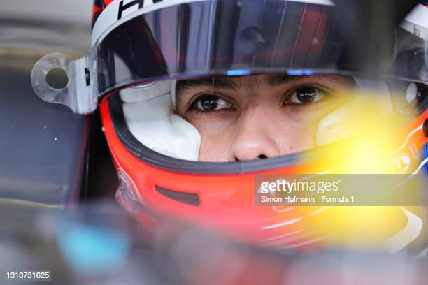 Rafael Villagomez of Mexico and HWA Racelab prepares to drive during Day Two of Formula 3 Testing at Red Bull Ring on April 04, 2021 in Spielberg,...