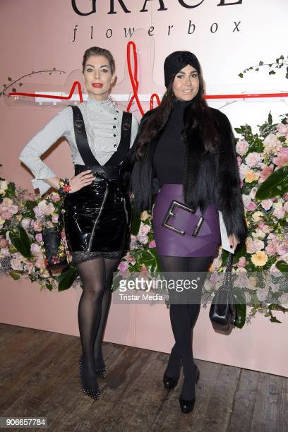 Rafaella White and Annika Gassner during the Marina Hoermanseder Defile during 'Der Berliner Salon' AW 18/19 at Von Greifswald on January 18 2018 in...