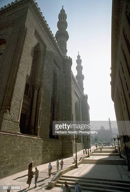 Rafa'i Mosque and Sultan Hassan Mosque just below the Citidal Cairo Egypt