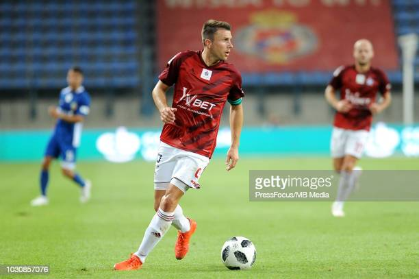 Rafal Boguski in action during Lotto Ekstraklasa match between Wisla Cracow and Miedz Legnica on July 27 2018 in Cracow Poland