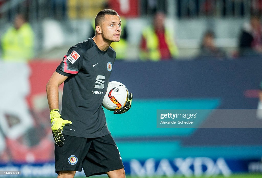 Rafal Gikiewicz (Eintracht Braunschweig) during the 2. Bundesliga match between 1. FC Kaiserslautern and Eintracht Braunschweig at Fritz-Walter-Stadion on July 31, 2015 in Kaiserslautern, Germany.