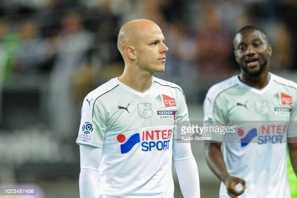 Rafal Kurzawa of Amiens during Ligue 1 match between Amiens and Reims on August 25 2018 in Amiens France