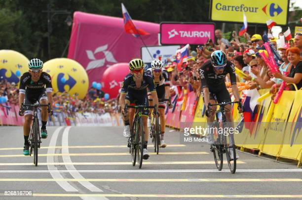 Rafal Majka Adam Yates Wout Poels during the Stage 7 of 74th Tour de Pologne on August 4 2017 in Bukowina Tatrzanska Poland