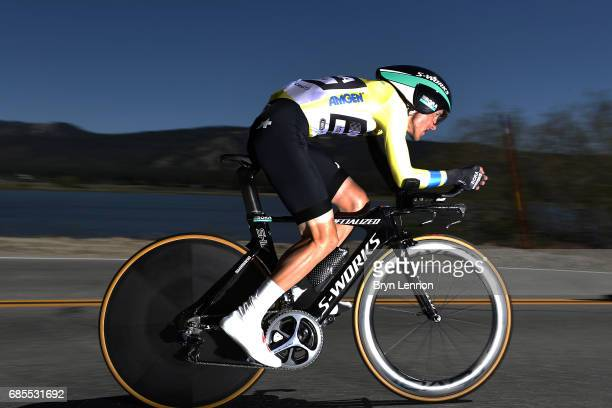 Rafal Majka of Poland and Bora-Hansgrohe in action during stage 6 of the AMGEN Tour of California, a 14.9 mile individual time trial around Big Bear...