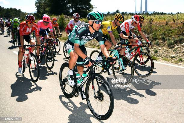 Rafal Majka of Poland and Team Bora - Hansgrohe / Bertjan Lindeman of The Netherlands and Team Jumbo - Visma / Sander Armee of Belgium and Team Lotto...