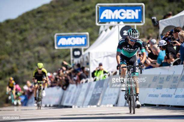 Rafal Majka of Poland and Team Bora Hansgrohe comes to the line for second place on stage 2 of the Amgen Tour of California on May 14 2018 in Ventura...