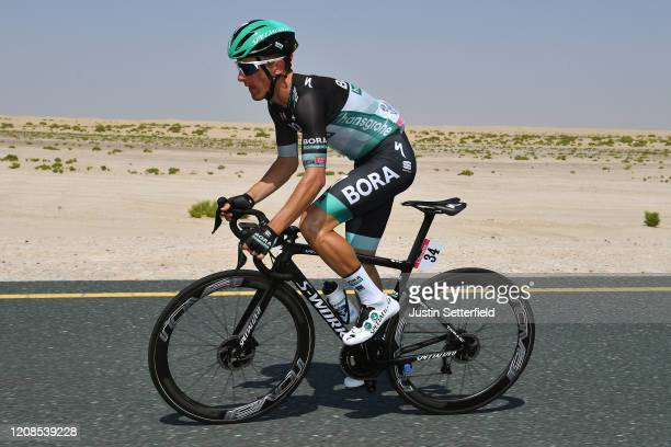 Rafal Majka of Poland and Team Bora - Hansgrohe / during the 6th UAE Tour 2020, Stage 3 a 184km stage from Al Qudra Cycle Track to Jebel Hafeet 1032m...