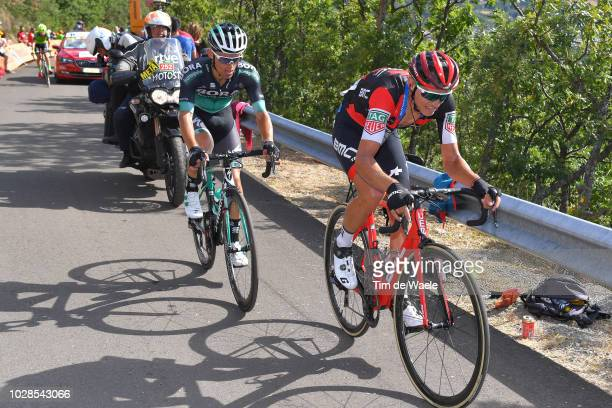 Rafal Majka of Poland and Team Bora - Hansgrohe / Dylan Teuns of Belgium and BMC Racing Team / during the 73rd Tour of Spain 2018, Stage 13 a 174,8km...