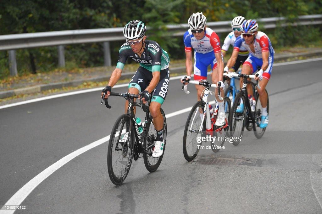 Rafal Majka of Poland and Team Bora-Hansgrohe / David Gaudu of ...