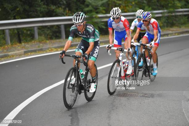 Rafal Majka of Poland and Team BoraHansgrohe / David Gaudu of France and Team Groupama FDJ / Thibaut Pinot of France and Team Groupama FDJ /...