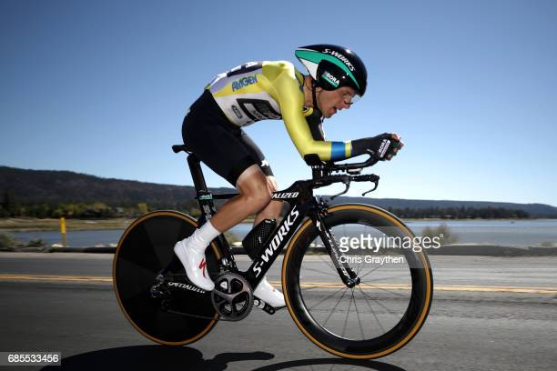 Rafal Majka of Poland riding for Bora-Hansgrohe rides during stage five of the AMGEN Tour of California from Ontario to Mt. Baldy on May 18, 2017 in...