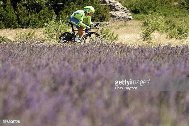 Rafal Majka of Poland riding for Tinkoff rides during the stage thirteen individual time trial, a 37.5km stage from Bourg-Saint-Andéol to La Caverne...