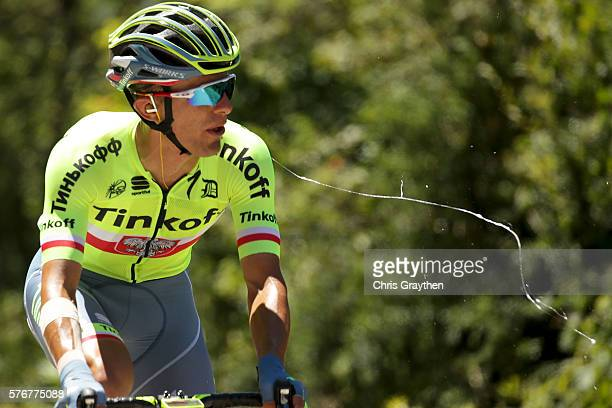 Rafal Majka of Poland riding for Tinkoff rides in the breakaway during stage fifteen of the 2016 Le Tour de France, a 160km stage from Bourg-En...